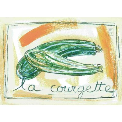 Print courgette