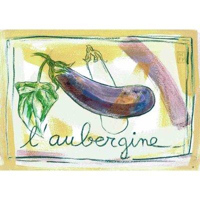 Print aubergine