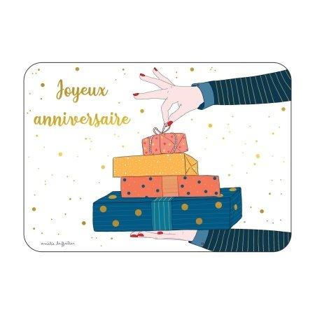 Verjaardagskaart met pakjes