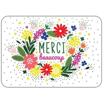 Franse kaart merci