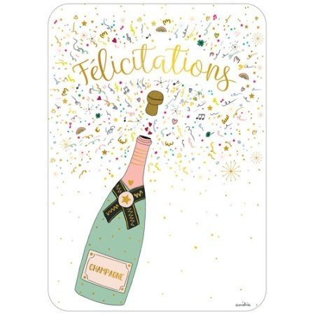 Felicitatiekaart met champagne