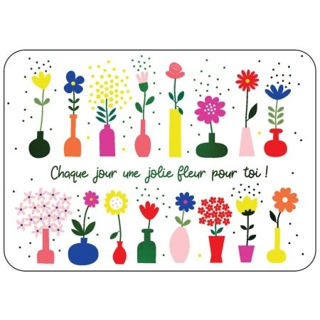 Franse wenskaart met bloemen