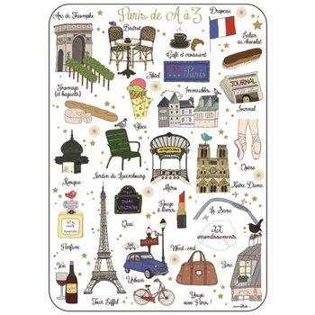 Cartes d'Art Paris Ansichtkaart Parijs A-Z