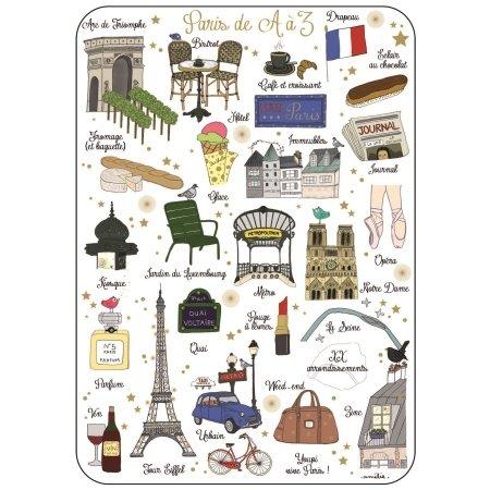 Ansichtkaart Parijs van A-Z