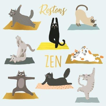 Wenskaart blijf zen