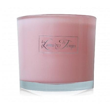 Geparfumeerde kaars in roze glas