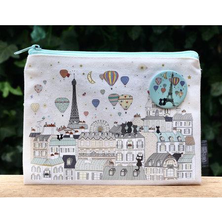 Etui stadsplattegronnd van Parijs