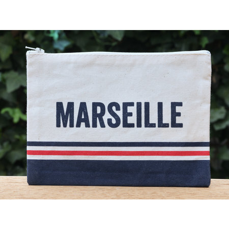 Stoffen etui met de tekst Marseille