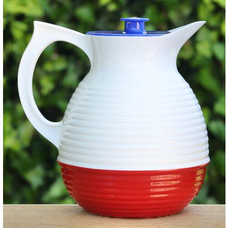 Karaf in de kleuren blauw wit rood