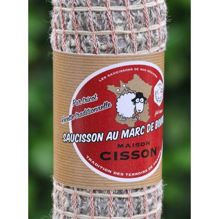 Gebreide worst met Marc de Bourgogne