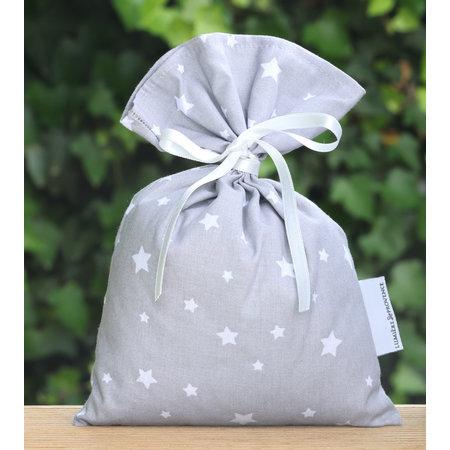 Lavendelzak met sterren grijs
