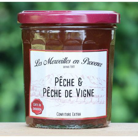 Franse confiture met perzik (peche de vigne)