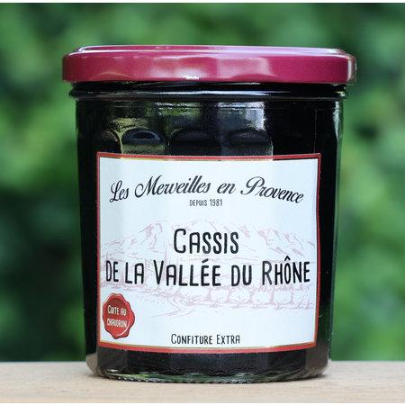 Franse confiture met zwarte bosbessen (cassis)