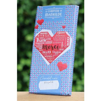 Le Comptoir de Mathilde Chocoladetablet Merci