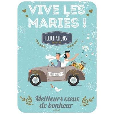 Franse wenskaart huwelijk
