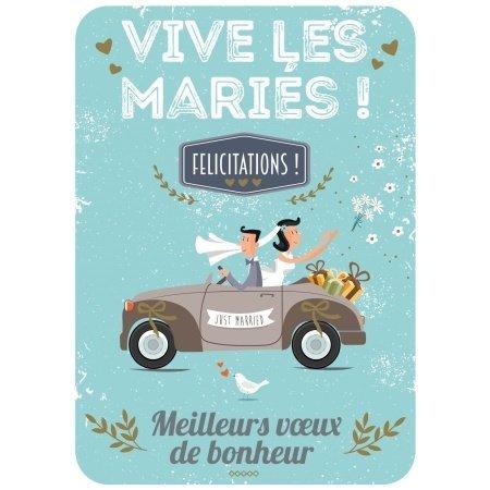 Franse wenskaart bruiloft