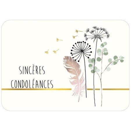 Franse condoleancekaart