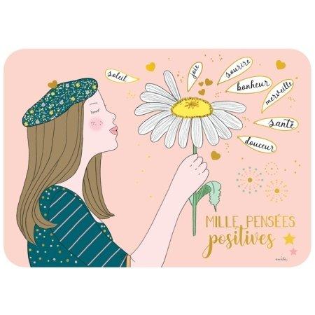 Ansichtkaart positieve gedachten