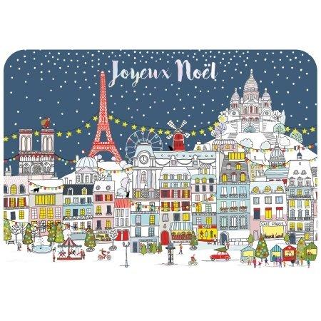 Franse kerstkaart met Parijs