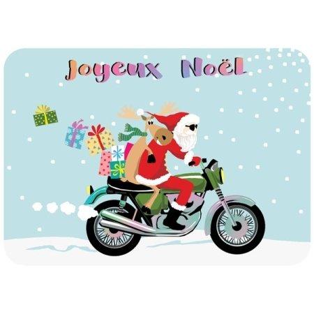 Franse kerstkaart met de kerstman