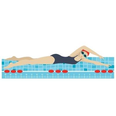 Lineaal zwembad