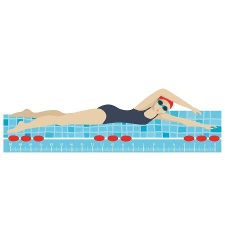 Houten lineaal zwembad