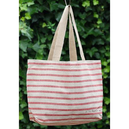 Franse tas met rode strepen