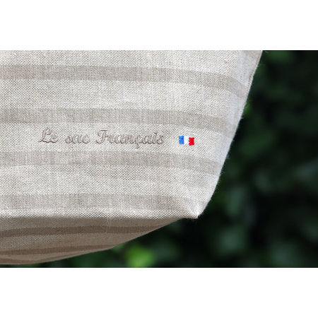Franse tas met naturel strepen
