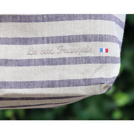 Franse tas met blauwe strepen