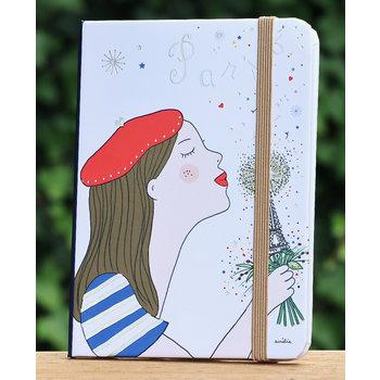 Cartes d'Art Paris Notitieboekje Parisienne