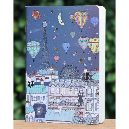 Mini notitieboekje met dessin van poezen