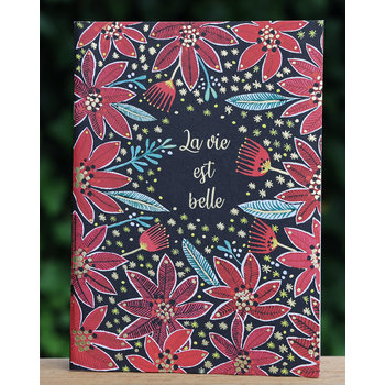 Cartes d'Art Paris Schrift La vie est belle