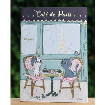 Cartes d'Art Paris Schrift Café Parijs
