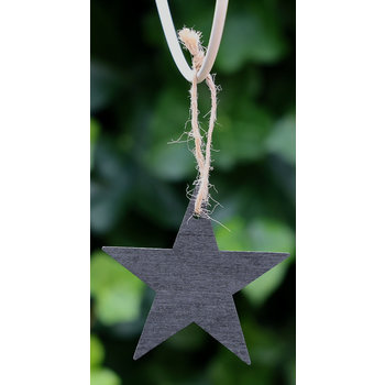 Lumière de Provence Houten ster zwart