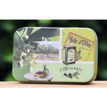Lumière de Provence Blikje zeep olijven