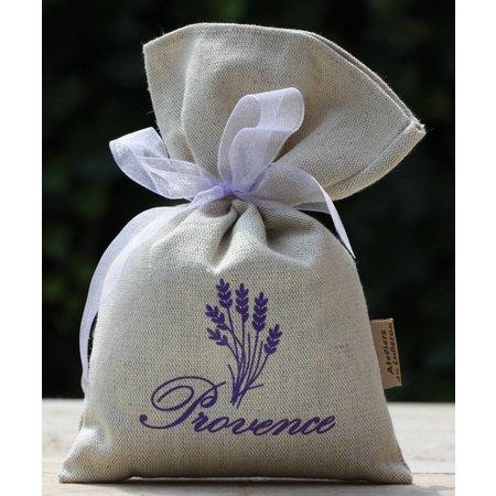 Grote lavendel of kruidenzak met logo