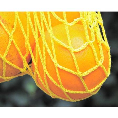 Boodschappennetje met hengsels geel
