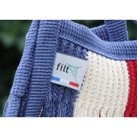 Mini nettasje met handvatten tricolor