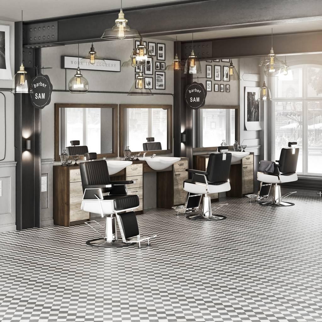 Panda Men's hair salon Barber set Retro - men's barber chair, men's dressing table