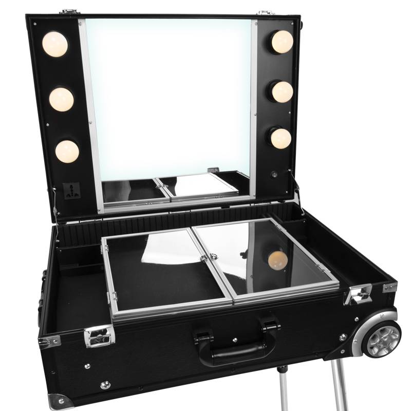 Activeshop® MOBILE BEAUTY STATION GLAMOUR D-9606K BLACK