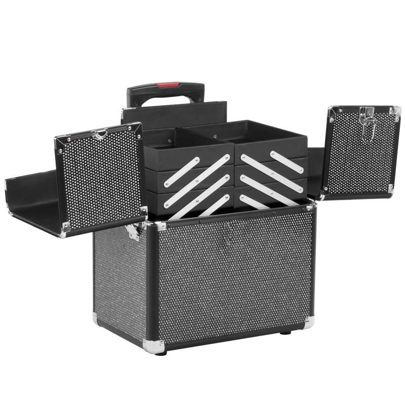 Activeshop® BEAUTY KOFFER GLAMOUR D9008K ZWART CRISTAL