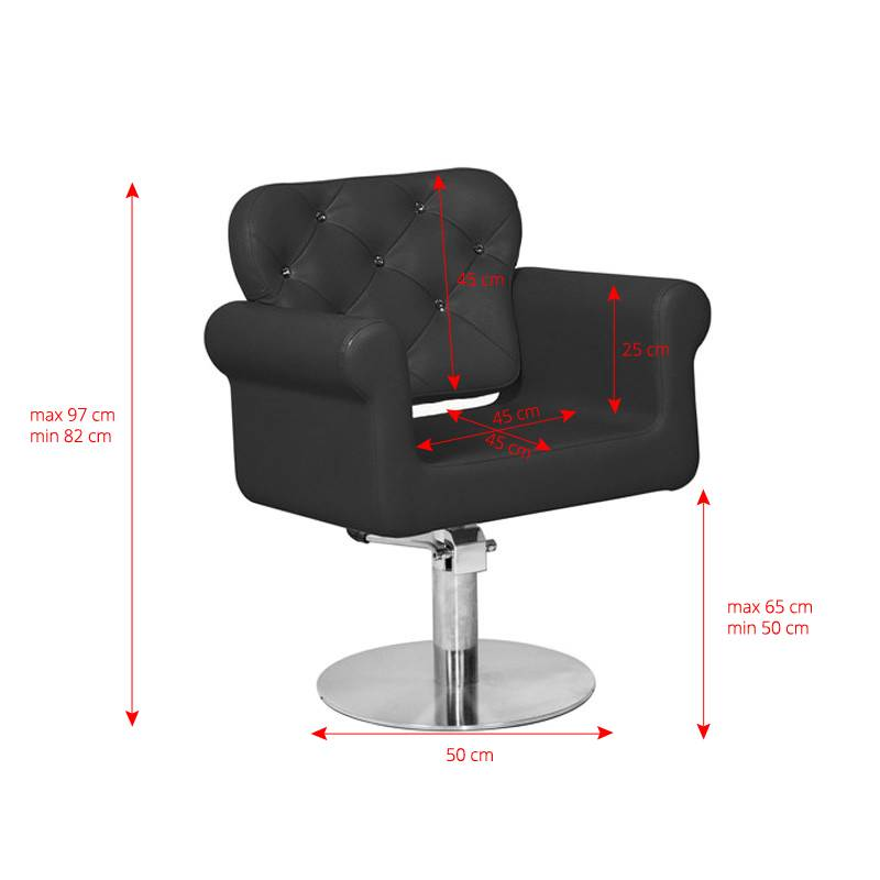 Gabbiano GABBIANO HAIRDRESSING CHAIR VIENNA BLACK
