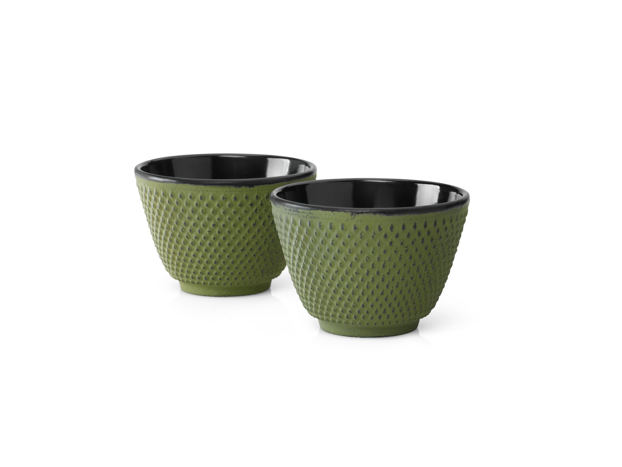 Bredemeijer Kopjes Xilin  gietijzer groen set a 2 stuks