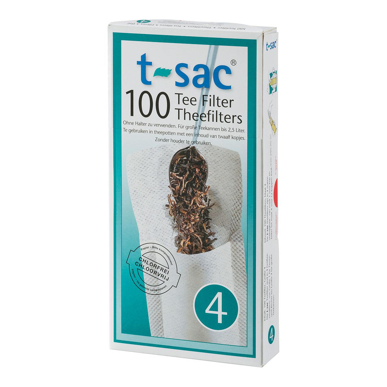 T-Sac theefilter nr. 4 (100 stuks)