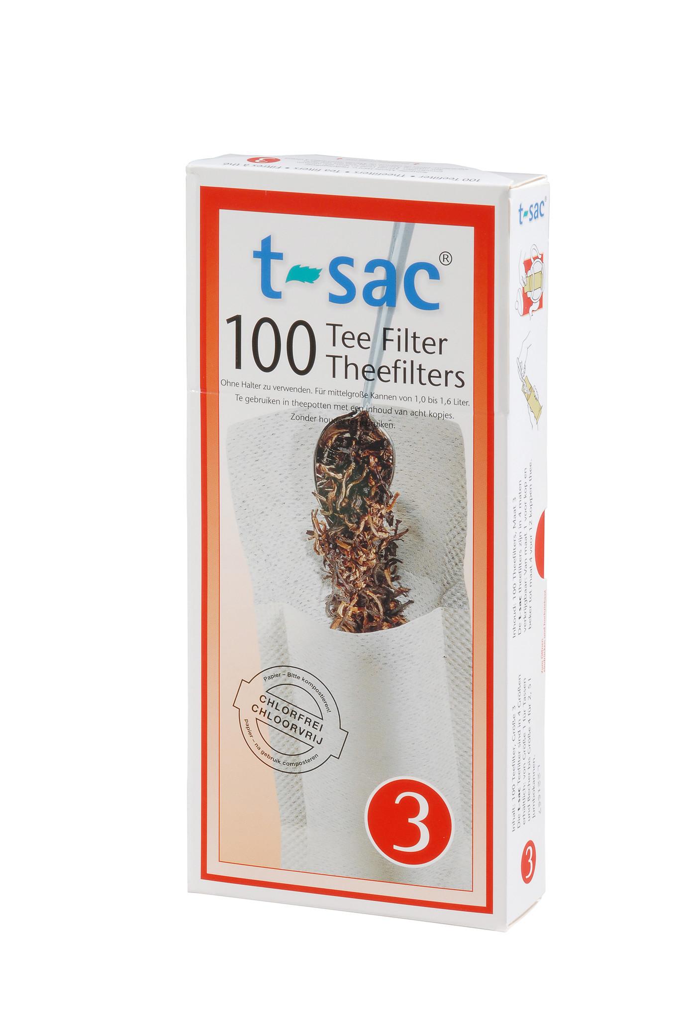 T-Sac theefilter nr. 3 (100 stuks)