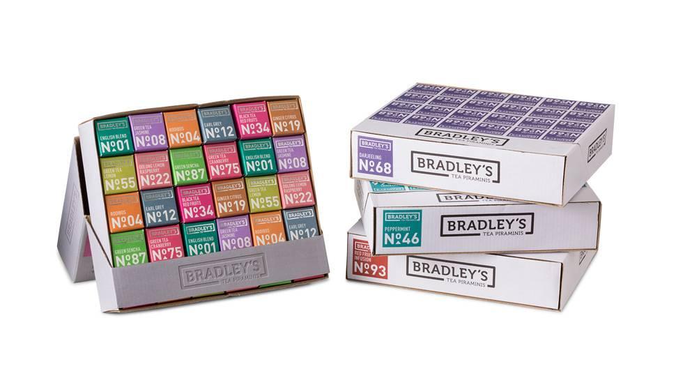 Bradley's Piramini assortimentstray tea in 10 soorten