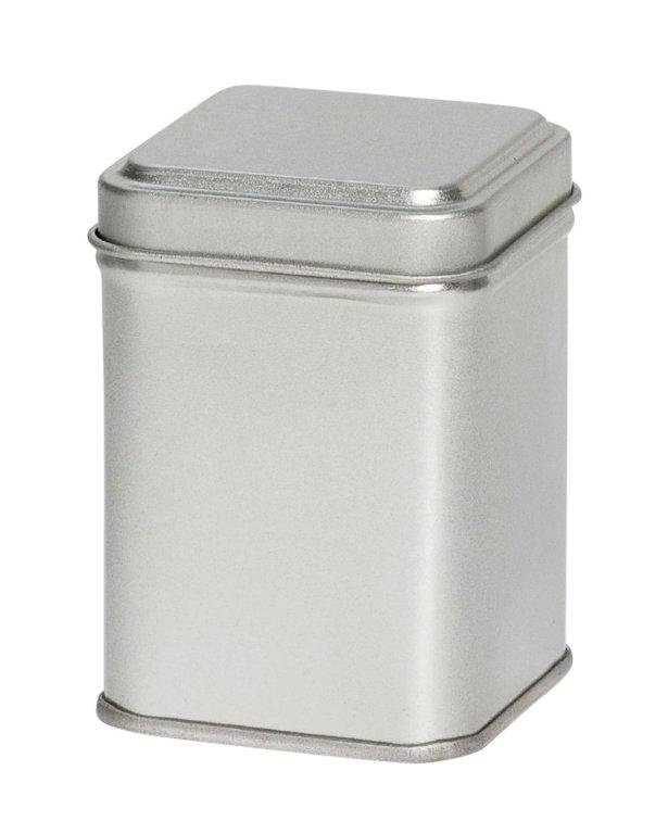 Kruidenblik zilver 88x88x115mm