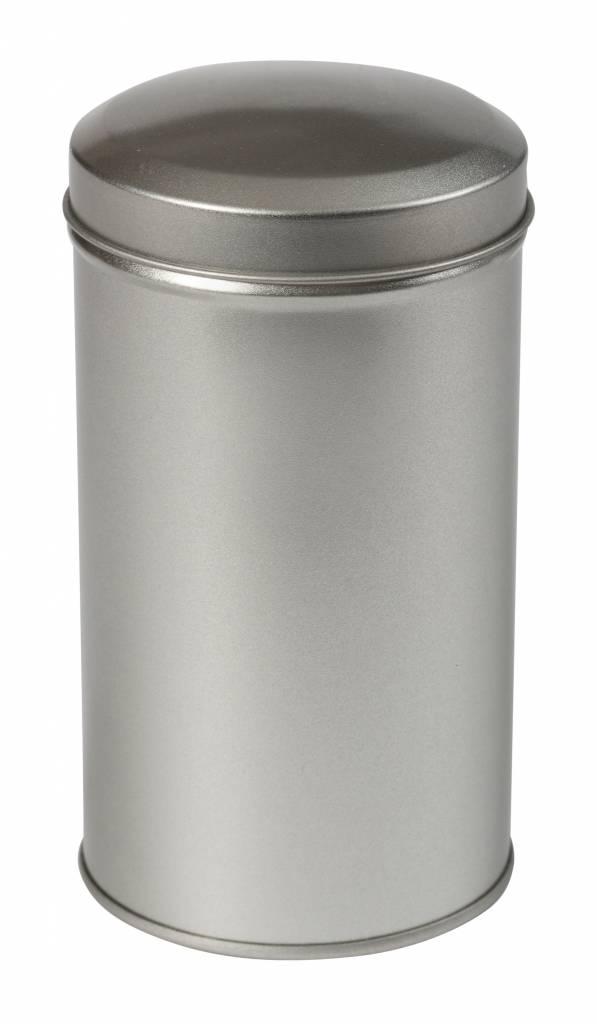 Kruidenblikje zilver rond 65x118mm