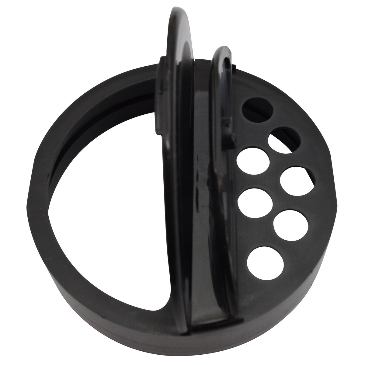 Strooibus kunststof 850 ml met zwarte deksel
