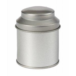 Kruidenblikje zilver rond 53 x 70mm